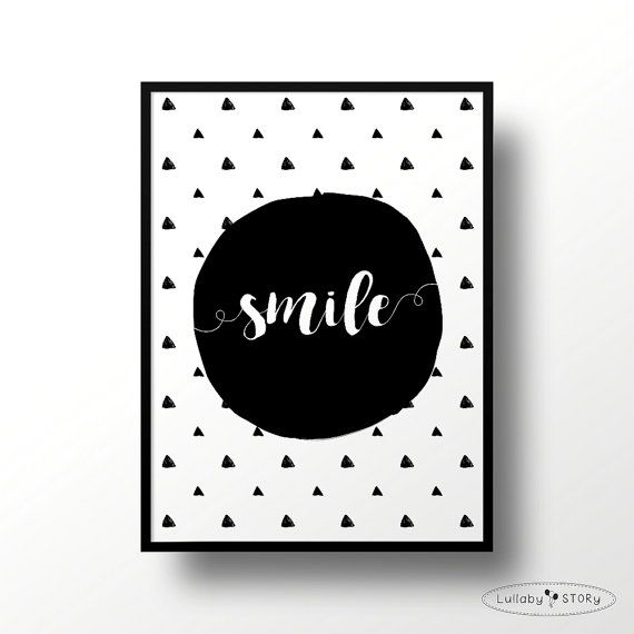 Kids poster Smile-Scandi poster-Scandinavian by LullabySTORY