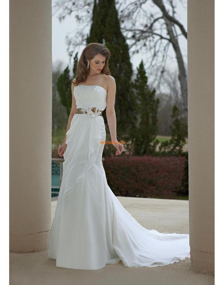 Zahrada / Venkovní Áčkový střih Šifón Svatební šaty 2014