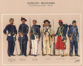 Laboratório de Polemologia Forte de Coimbra: Uniformes da Guerra do Paraguai - BRASIL