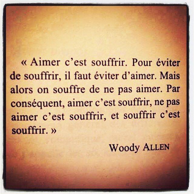 Bon ok Woody ! Alors on fait quoi??? #quote #love #nolove #wOodyallen #toutenconstat #persojeprefereaimer #coeurdartichauds #cestmieuxcommeca #jadorelesdimanches meme si tu me manques Môn @dino.zeitoun ..
