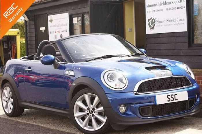 Mini Roadster 1.6 Cooper S 2dr Convertible Petrol Lightning Blue Metallic for sale at http://www.simonshieldcars.co.uk/used/mini/roadster/16-cooper-s-2dr/ipswich/suffolk/17168914