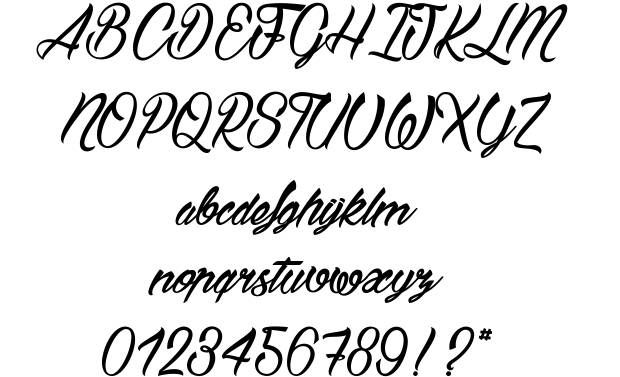 Bostella font
