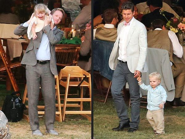 NPH with his partner David Burtka and their cute as hell kids at Cobie Smulders wedding :)