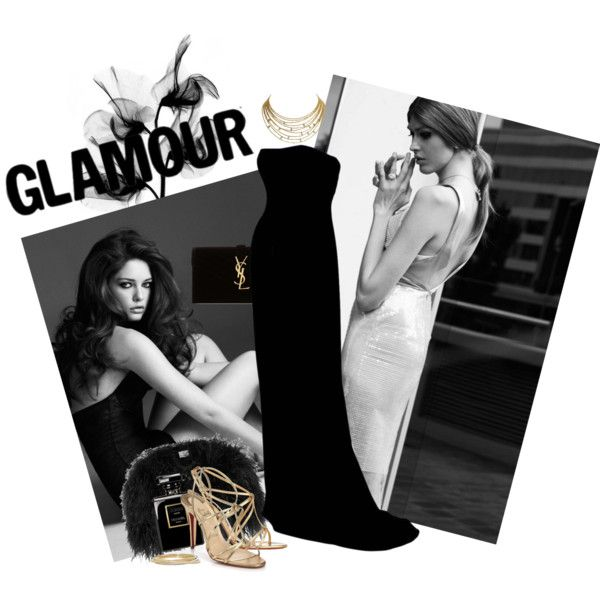 Black Luxury by miqua on Polyvore featuring Mode, Christian Louboutin, Yves Saint Laurent, Cartier and dafné