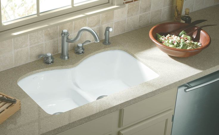 White Undermount Kitchen Double Sinks Google Search