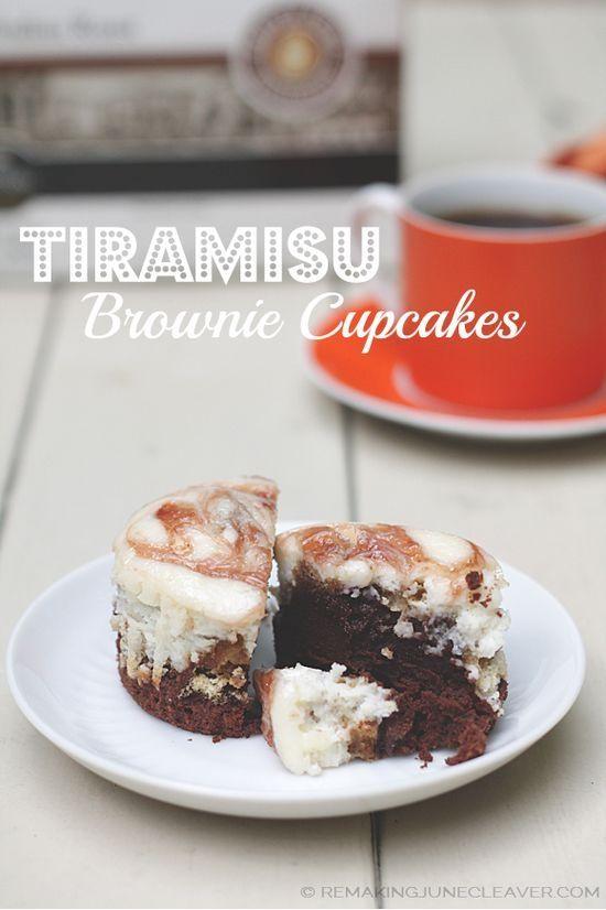 Tiramisu Brownie Cupcakes #YourPerfectCup