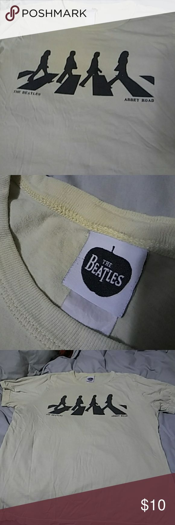 🎡THE BEATLES BAND T SHIRT🎡 Its vintage, so hard to find. Lol and a cute yellow pastel color... So buy this lol  Tags: band t shirts, the beatles, 90's Tops Tees - Short Sleeve