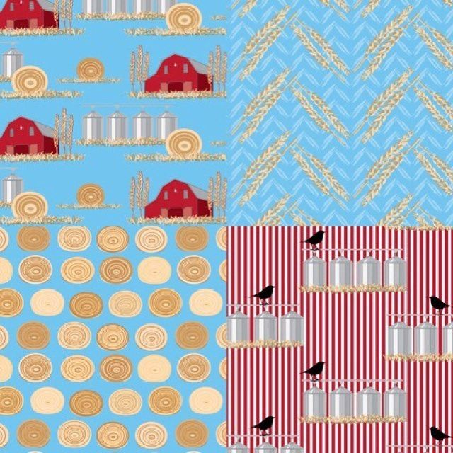 This is my entry for the #storypatches family tree contest. Both my father and grandfather worked in agriculture their whole lives and I grew up in Missouri. Here's to red barns grain silos wheat and hay bales.  #homedecor #homedec #fabric #fabrics #sew #sewing #misschiffdesigns #patterns #interiors #fabricpatterns #surfacepatterndesign #surfacepattern #designinspiration #interiors #beautifulhomes #wallart #upholstery #redecorating #bedroom #bedding #interiordecorating #interiorstyling…