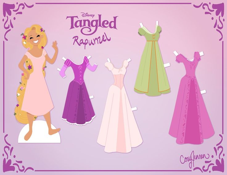 Rapunzel Paper Doll Version 2 by Cor104