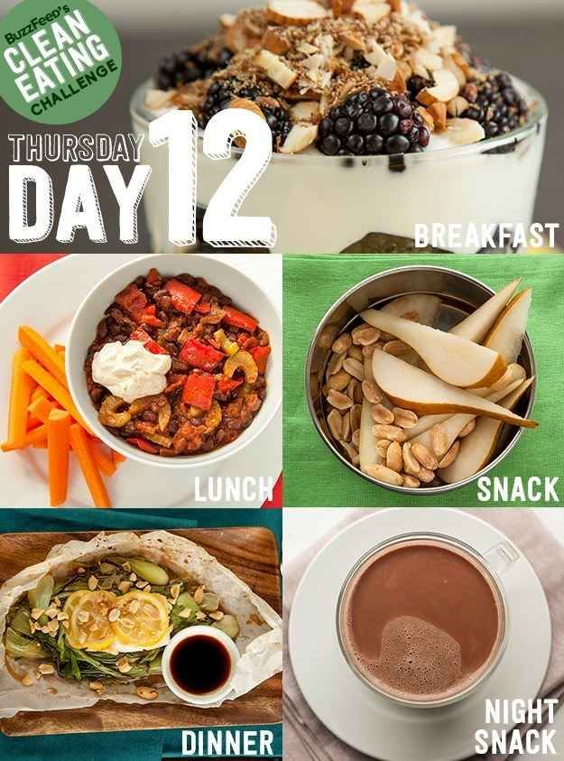 DAY 12 - Take BuzzFeed's Clean Eating Challenge, Feel Like A Champion At Life