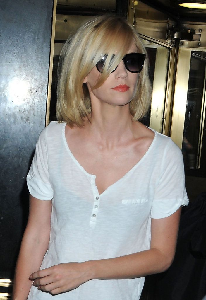 "January Jones signs autographs for fans at the ""Late Night With Jimmy Fallon"" Show at NBC Studios in New York City."