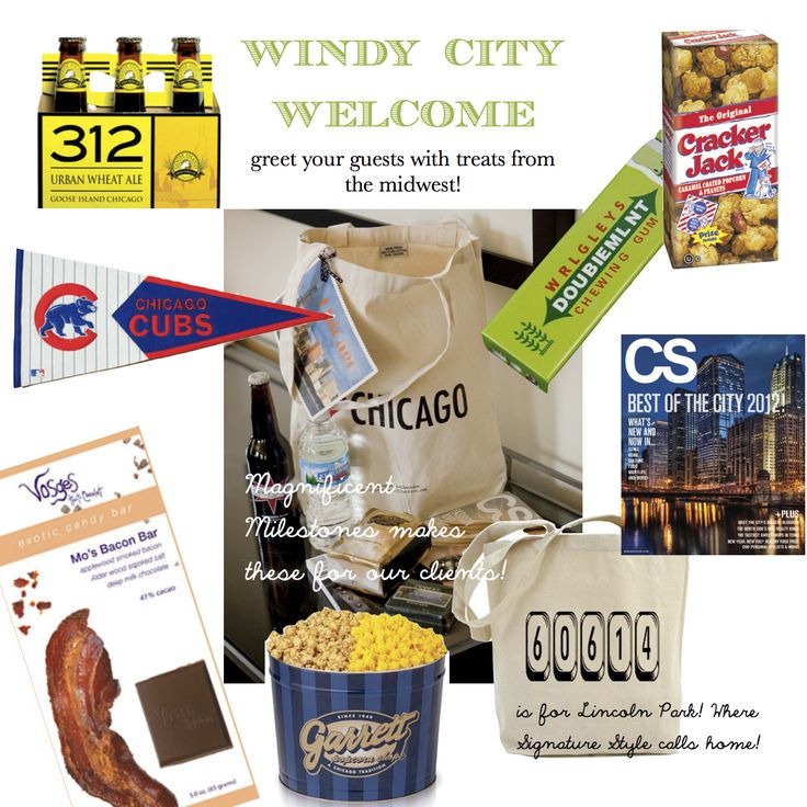 Not necessarily like this because this is for the windy city - but a regional specialties welcome bag would be nice