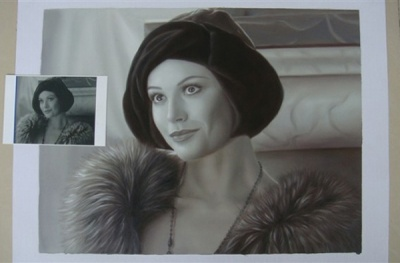 Portrait to 100% handmade oil Painting on canvas price starting $183