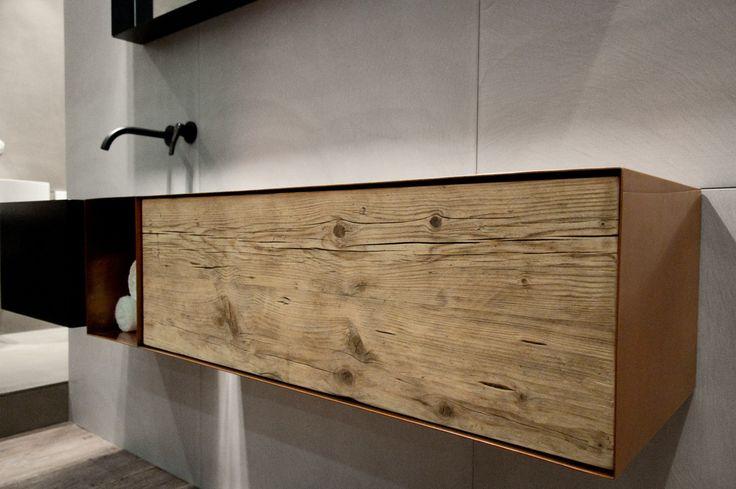 Lavabo rettangolare in lamiera Collezione Zero20 by Moab 80   design Gabriella Ciaschi, Studio Moab