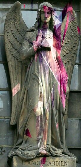 Angel of stone in colour