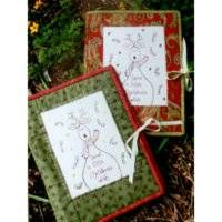 """Send a little Christmas wish  This hand-made Christmas Card holder is perfect for you, or your super-organised friends as a Christmas gift.  Finished size is 8"""" x 12"""" closed."""