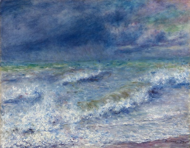 Pierre-Auguste Renoir  French, 1841-1919, Seascape - Another favorite