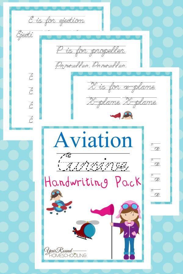 aviation cursive handwriting pack ultimate kids board cursive handwriting homeschool. Black Bedroom Furniture Sets. Home Design Ideas