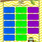 This package includes Australian Curriculum assessment guides for Year 1 English. These bright and colourful posters are excellent for sending home...
