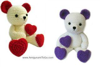 Вяжем амигуруми: Сердечный мишка