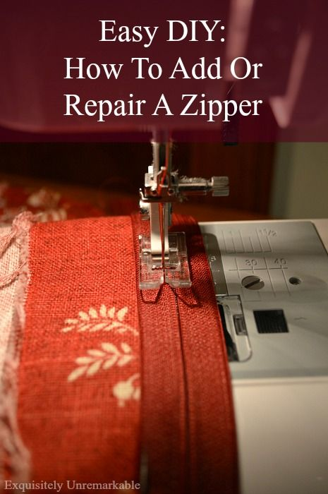 Need to fix a broken zipper or add a zipper to a pillow after the sewing is done? No problem. Come on over and I'll show you how. Easy.