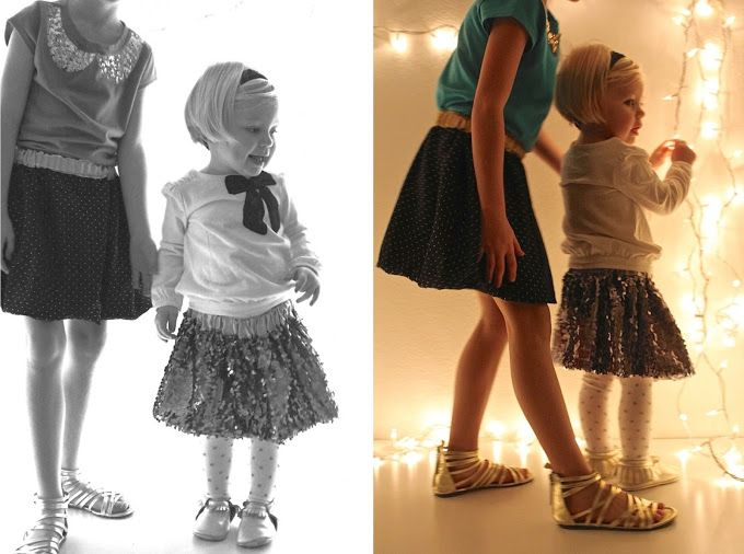 TUTORIAL: Sparkle Skirts with a simple satin lining – MADE EVERYDAY