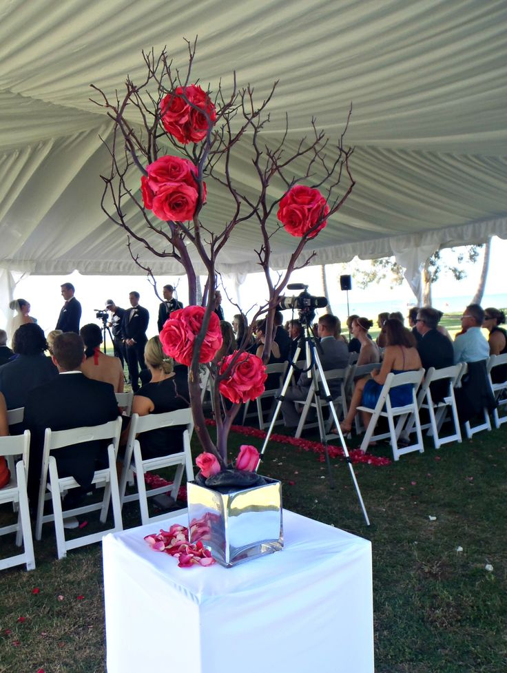 Ceremony under a marquee