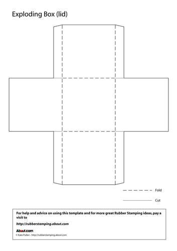 Exploding Box Template - Lid