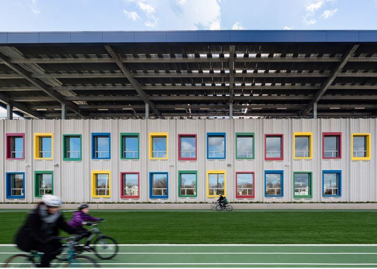 SOM Designs First Net Zero Public School In New York City. School  ArchitectureSustainable ArchitectureModern ArchitectureIslandsKindergarten  DesignSchools ...