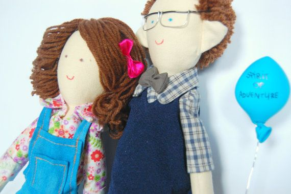 Handmade custom dolls made by photo Couple by apacukababa on Etsy