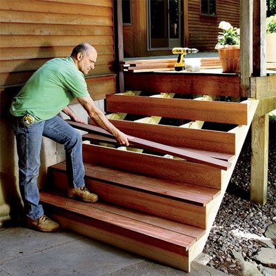 Superb Building Outdoor Stairs #3 How To Build Outdoor Deck Stairs