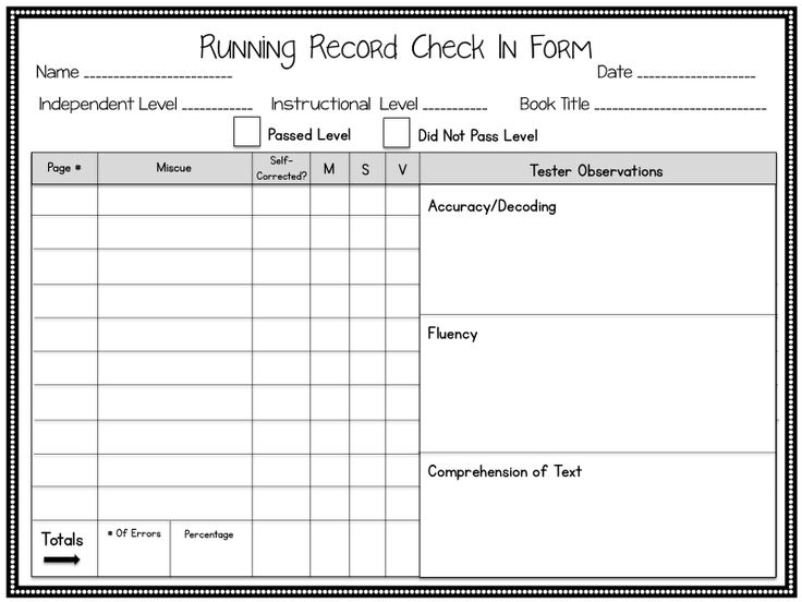 Best  Running Records Ideas On   Guided Reading