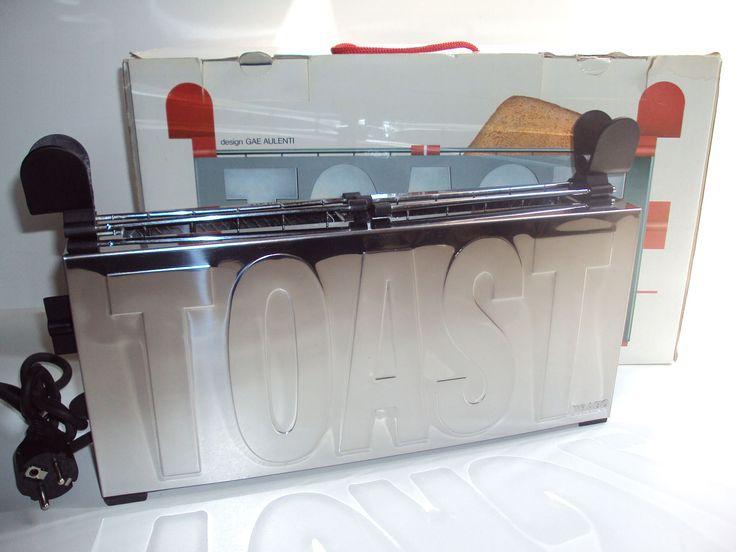 Gae AULENTI, Toaster, TRABO, 1997, grille-pain, structure et pinces à Toast en acier inox, 2 tranches, vintage, design de la boutique LApetiteGALERIEdeJP sur Etsy