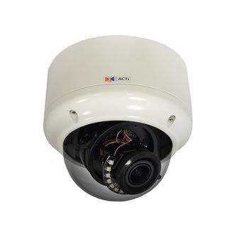 ACTi A82 5 Megapixel IR Vandal Dome IP Camera unveils next generation video surveillance performance. The superbly efficient new H.265 compression along with added perks like P-Iris, exceptional WDR and real-time 30fps Full 5MP HD video promise stunning results. Outdoor ready with plenty more to like its a top choice for professional security systems.