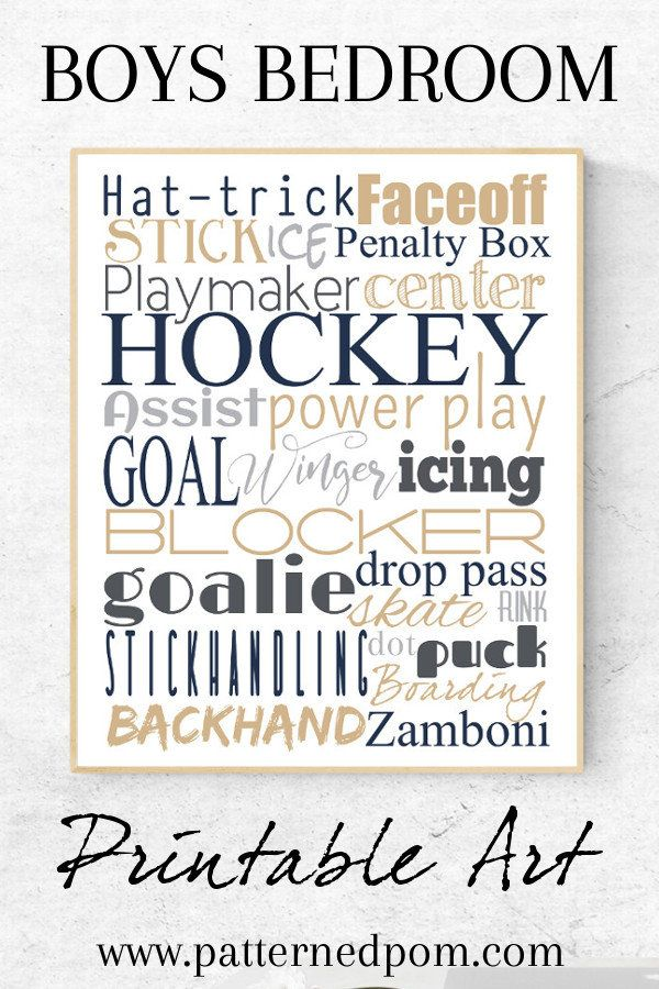 Hockey Wall Art Typography Printable Poster Hockey Locker Sign Man Cave Team Player Gift Sports Wall Decor Hockey Wall Art Sports Wall Decor Typography Printable