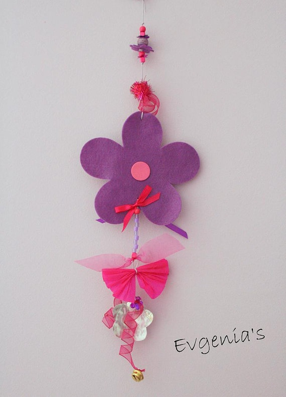 Handmade Purple and Metal Flower with Plastic by EvgeniasOrnaments, $14.00