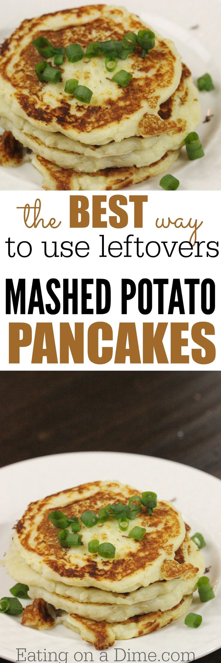Leftovers Mashed Potato Pancakes recipe.  The entire family loved them! In fact, the entire family were upset that we didn't have more. From now on I think I'm going to make too many mashed potatoes on purpose just so I make this yummy mashed potato cakes recipe.