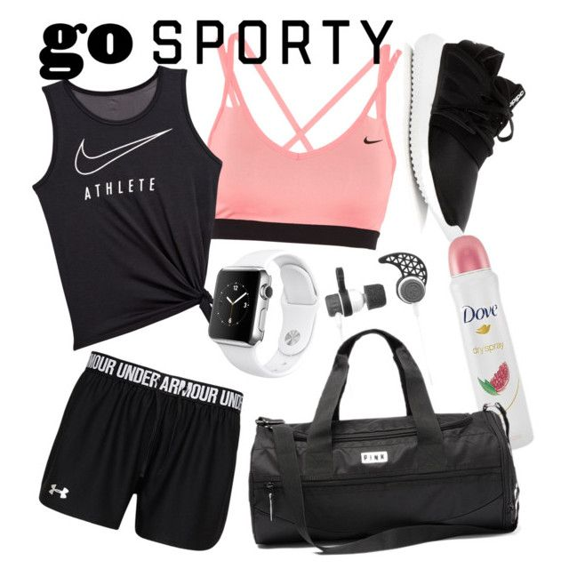 sport by natalka-safranekova on Polyvore featuring polyvore fashion style NIKE adidas Apple Outdoor Tech Dove clothing
