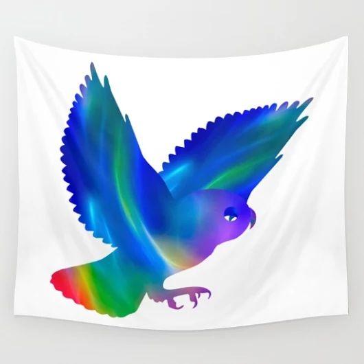 Society6 - owl in flight