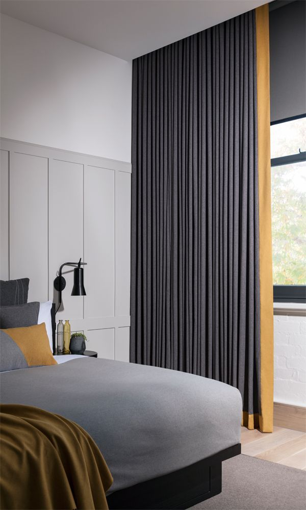 Ceiling High Wave Curtains In 2020 Wave Curtains Curtains Curtains With Blinds