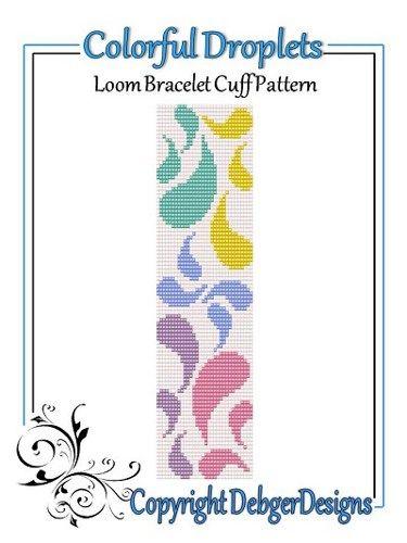 Colorful Droplets  - Loom Bracelet Cuff Pattern