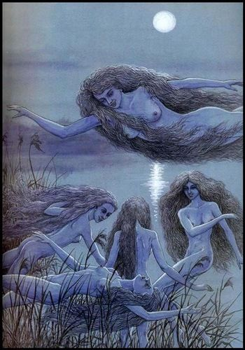 Начніцы. Nachnitsa (type of female night ghost). Мастак Валеры Славук.
