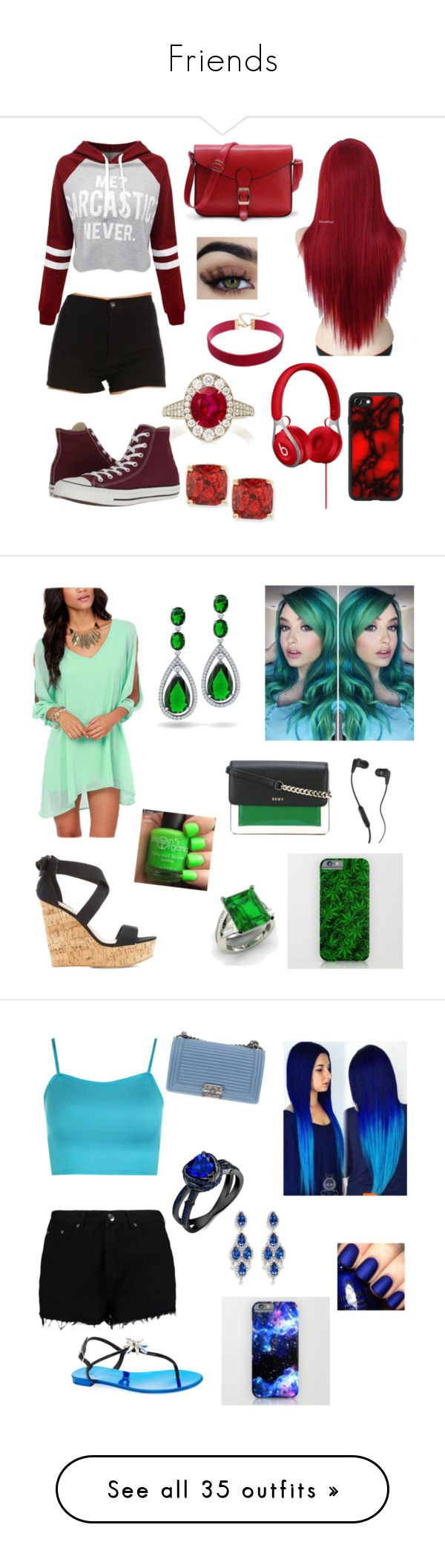 Friends by JJWolfQueen9596 on Polyvore featuring polyvore, fashion, style, Martin Katz, WithChic, Casetify, Kate Spade, Converse, clothing, Bamboo, Diamondere, Skullcandy, DKNY, Bling Jewelry, WearAll, Boohoo, Chanel, CZ by Kenneth Jay Lane, Giuseppe Zanotti, China Glaze, Bueno, Emilio!, Miss Selfridge, Happy Plugs, Jimmy Choo, Cara, Kendall + Kylie, Acorn, Les Copains, Grayson Threads, Ice, plus size clothing, P.J. Salvage, JunaRose, George, Justin Bieber, J. Adams, Jessica Simpson, Tales…