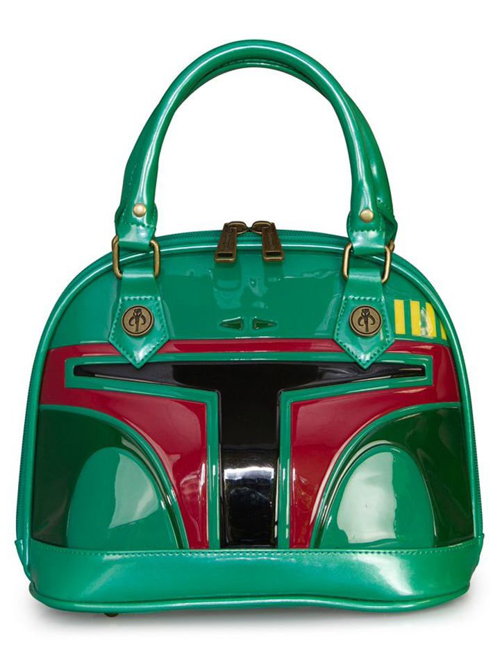 """Star Wars Boba Fett"" Mini Patent Dome Bag by Loungefly...i....want....it!"