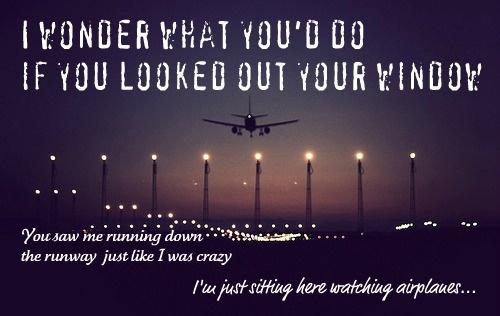 GARY ALLAN - WATCHING AIRPLANES LYRICS
