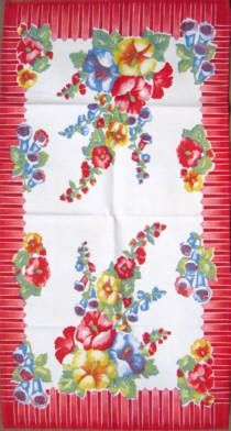 Beautiful Vintage Kitchen Tablecloth
