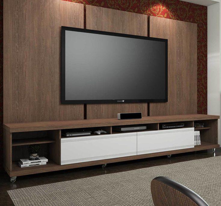 O painel deixa a sala de estar organizada e ainda mais bonita ocupando pouco espaço. :D