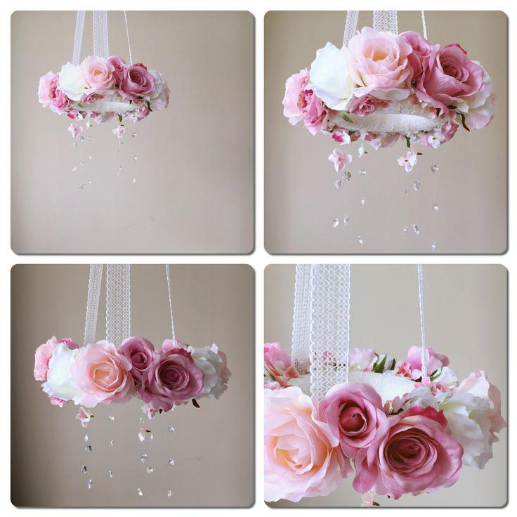 Bloem met echte Swarovski kristallen bloem door PaulettaStore
