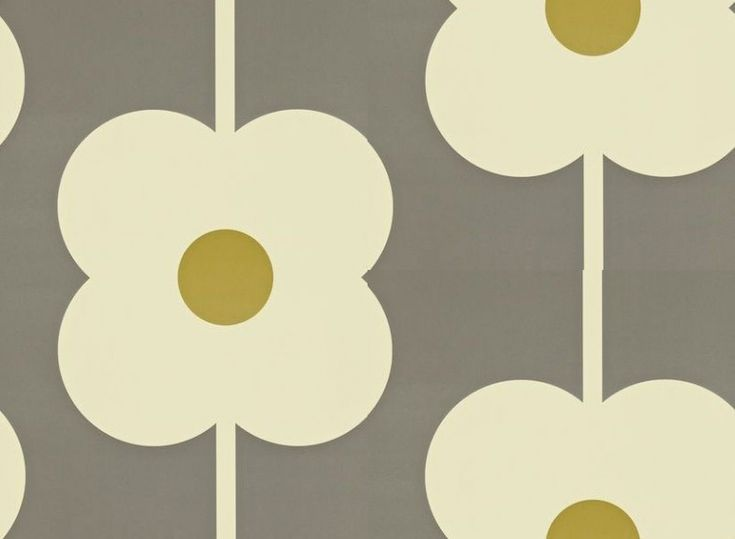Giant Abacus Flower (110409) - Orla Kiely Wallpapers - Orla Kiely's Giant abacus flower is simply stylish. Shown in green and dark grey - more colours are available. Please request a sample for true colour match. Paste-the-wall product.