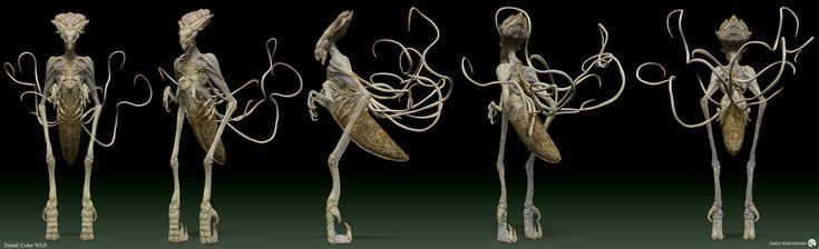 ArtStation - Independence Day 2: Resurgence - Alien Inner Harvester Queen, Jared…